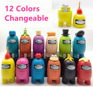 12Colors Among Us Action Figure Toys 10cm Deformable Toys For Children Figures Toys Among Us Model PVC Keychain Gifts For Kids