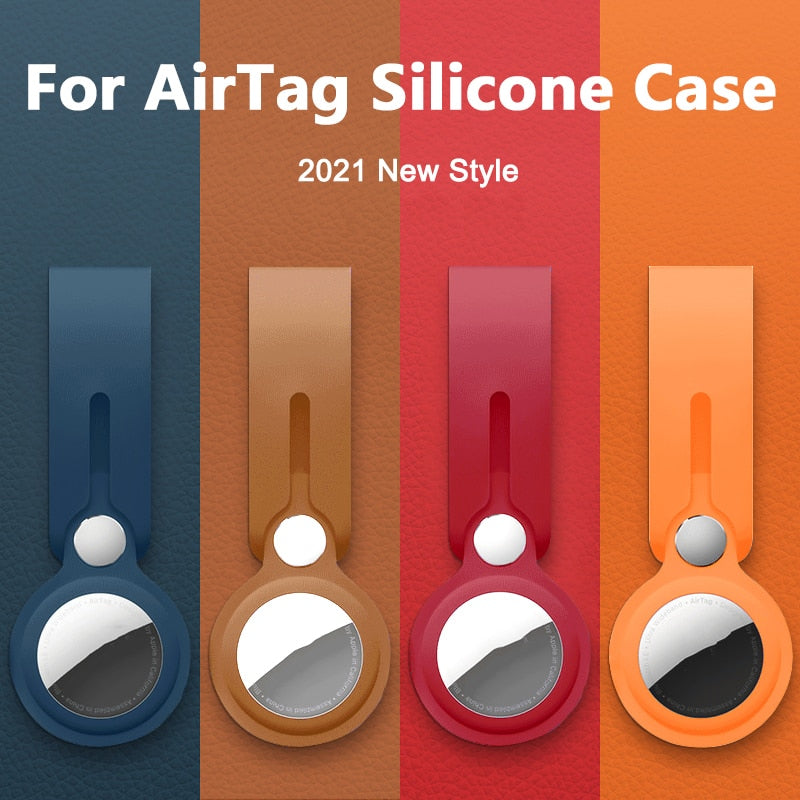 UTOPER Soft Liquid Silicone Protective Case For Airtags Cover Hangable Keychain Locator Tracker Cover For airtags Case