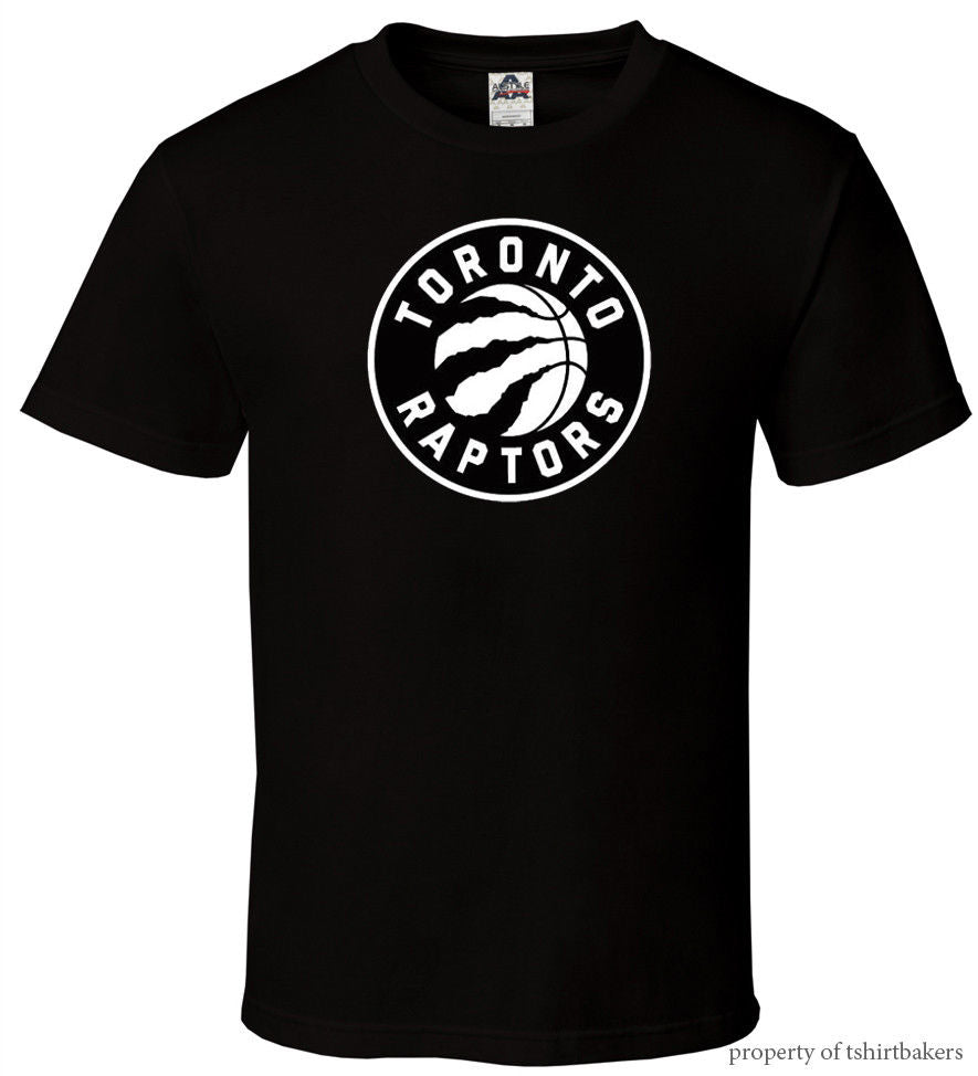 Gildan Raptors - Black T-Shirt Fan Basketballer Toronto Champ Logo All Sizes S-3XL