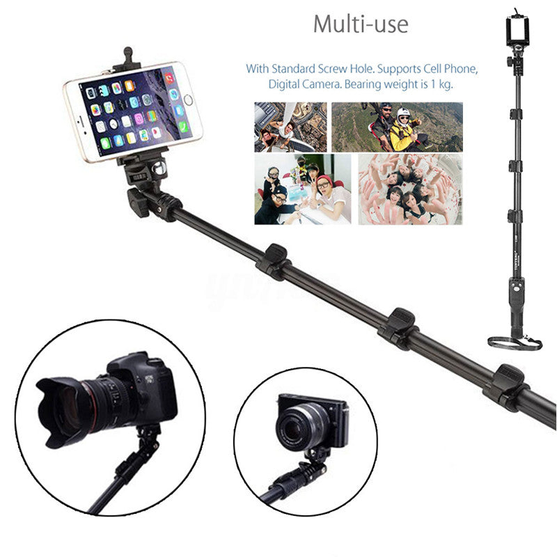 Smartphone Self Stick Stick Monopod Humanized Monopod Folding Selfie Stick BT Aluminium Alloy Photograph Entertainment