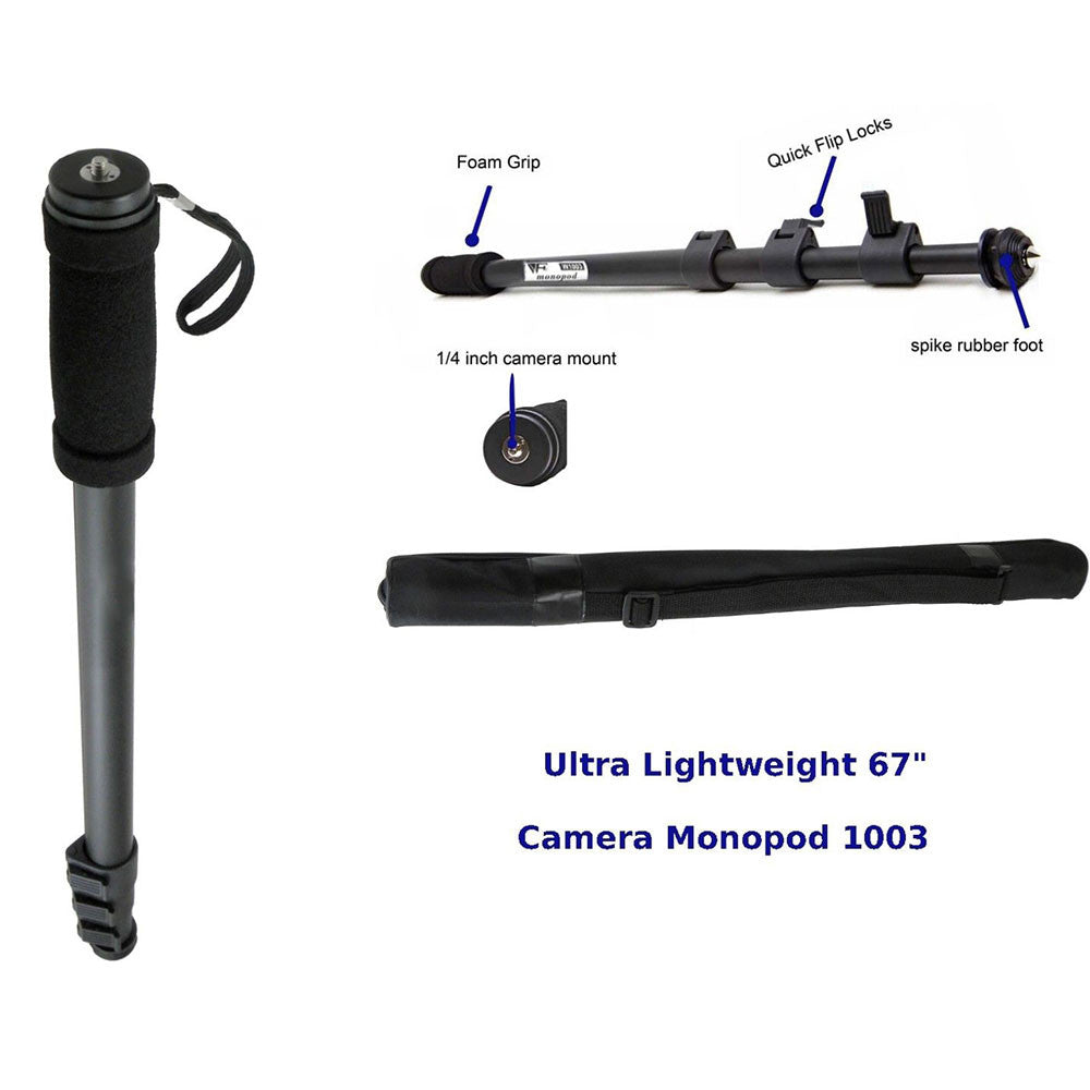 Camera Monopod Tripod Professional DV Vedio Stand Monopod with Pouch Extended 171cm Outdoors Holder