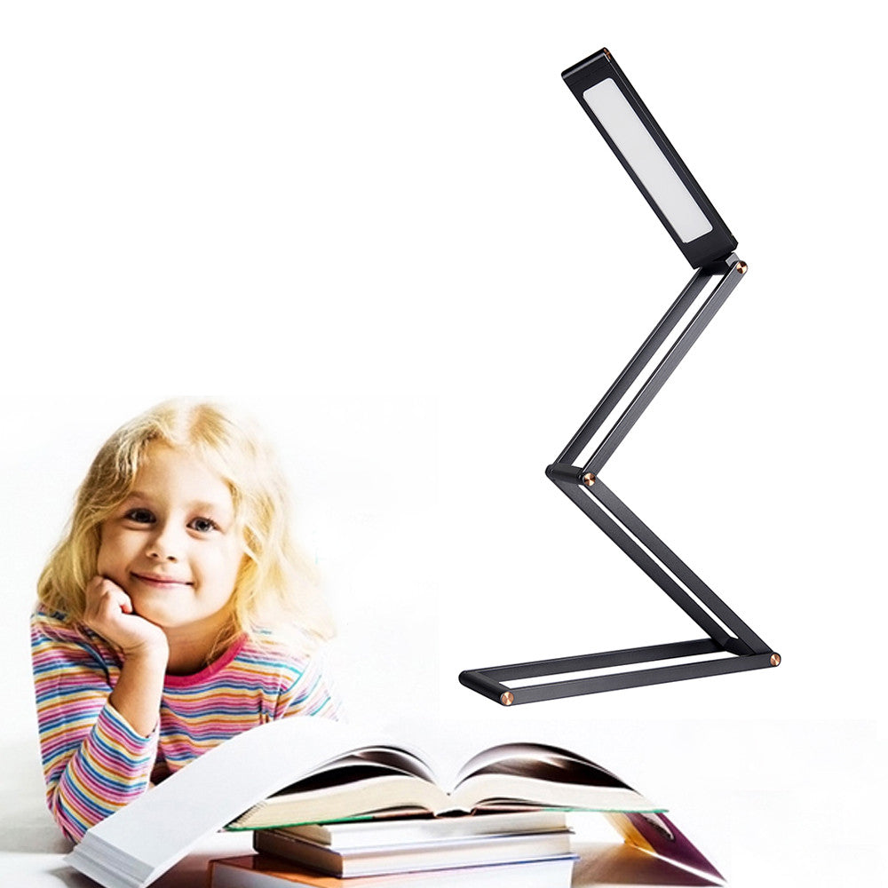 Portable Travel Lamp Dimmable Desk Lamp Folding Aluminum Alloy Lamp