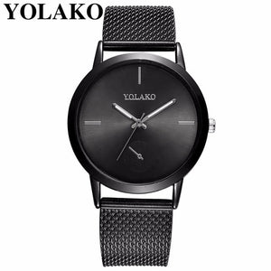 2019 Hot Fashion Women Quartz Watch Luxury Plastic Leather Analog Wrist Watches Female Clock YOLAKO Brand Relogio Feminino