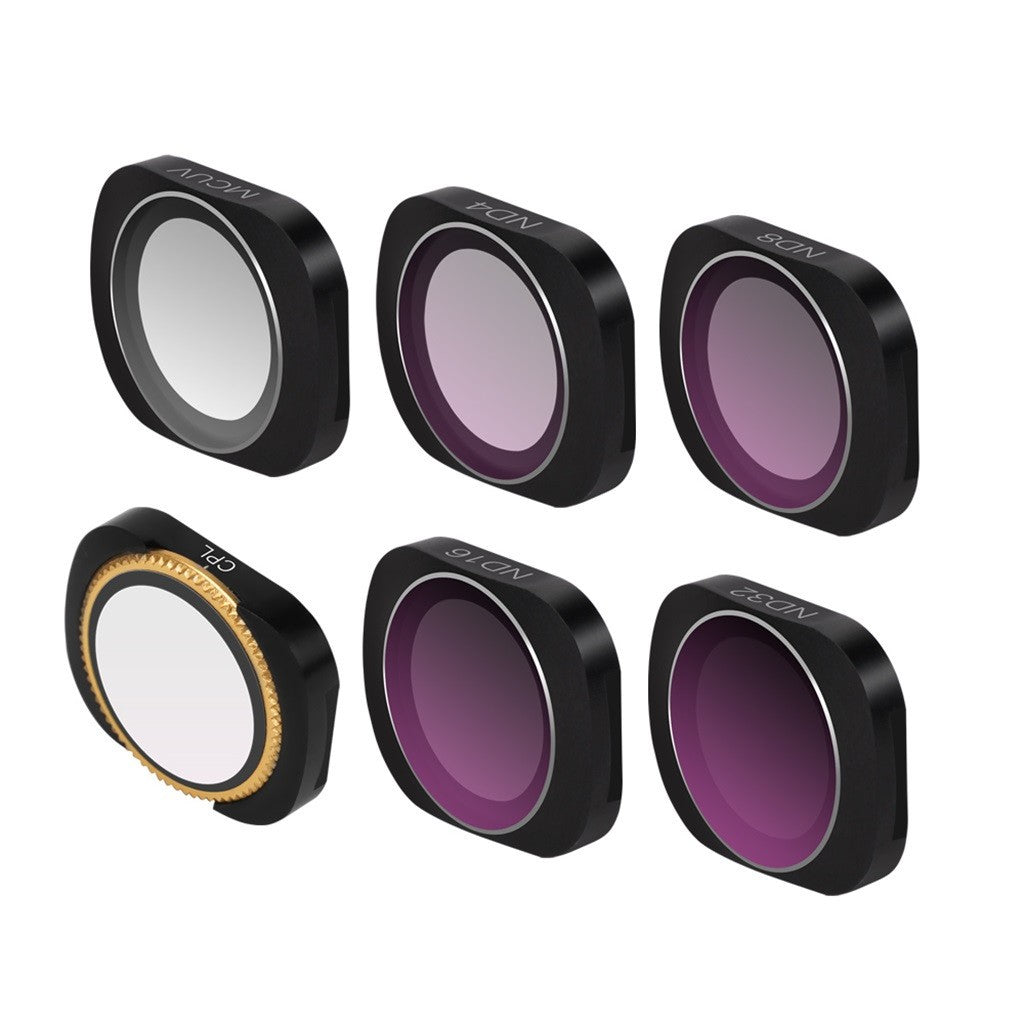 6pc MCUV+CPL+ND4+ND8+ND16+ND32 Camera Lens Filters For DJI OSMO POCKET