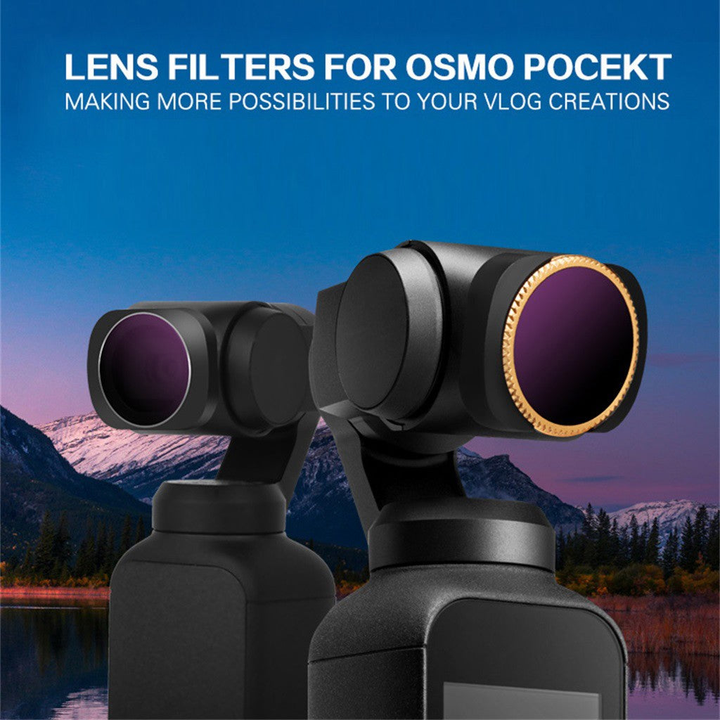 6PC ND4+ND8 +ND16+ND4-PL+ND8-PL+ND16-PL Camera Lens Filters For DJI OSMO POCKET