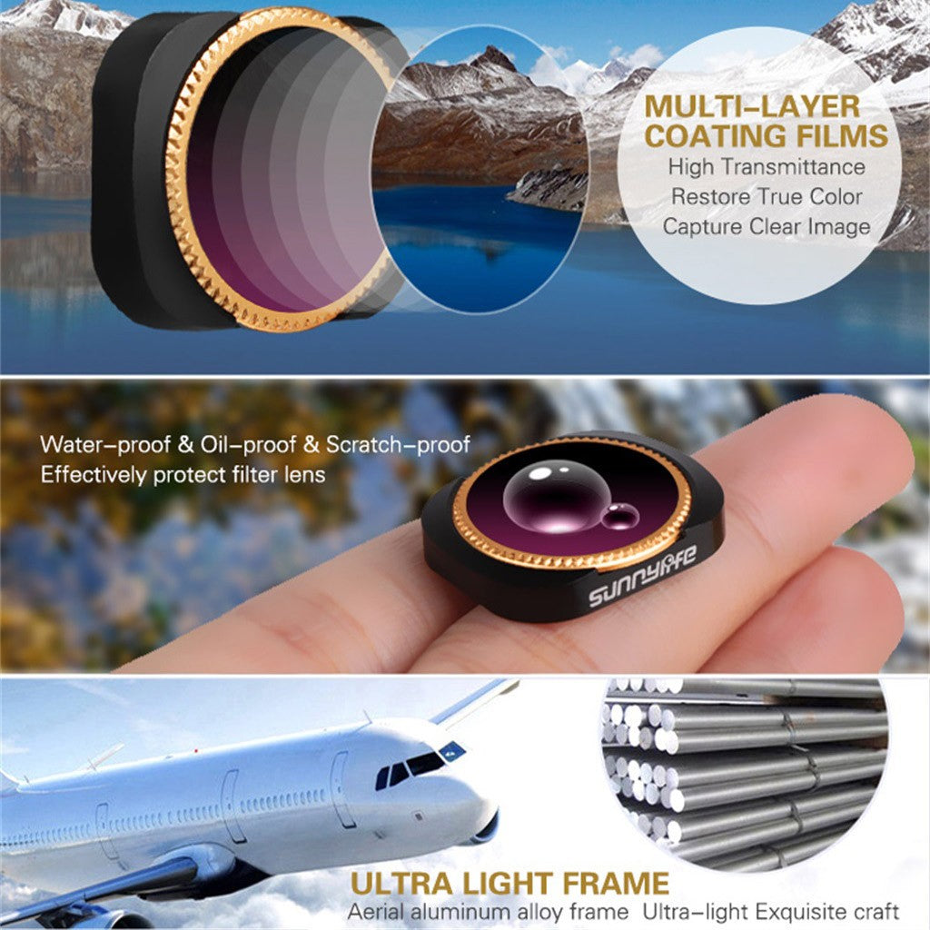 4PC ND32+ND64+ND32-PL+ND64-PL Camera Lens Filters For DJI OSMO POCKET Camera