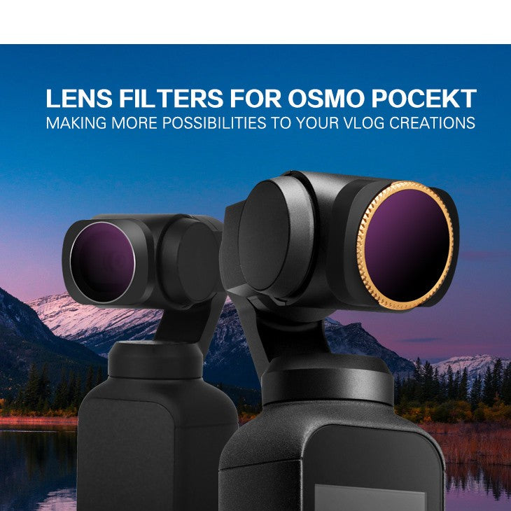 4PC ND8-PL + ND16-PL + ND32-PL + ND64-PL Camera Lens Filters For DJI OSMO POCKET