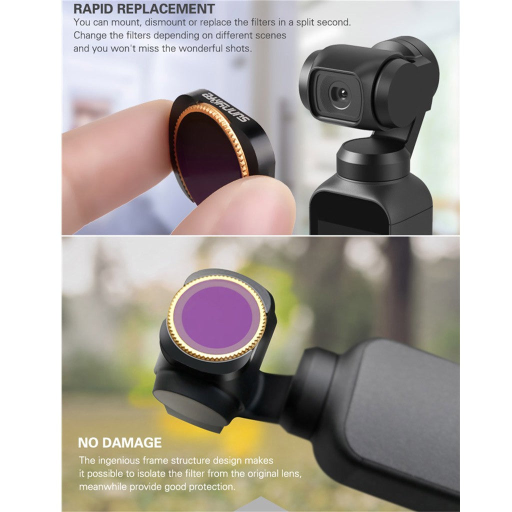 3PC ND4-PL+ND8-PL+ND16-PL Camera Lens Filters For DJI OSMO POCKET Camera