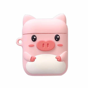 Pig and Bear Airpods Case