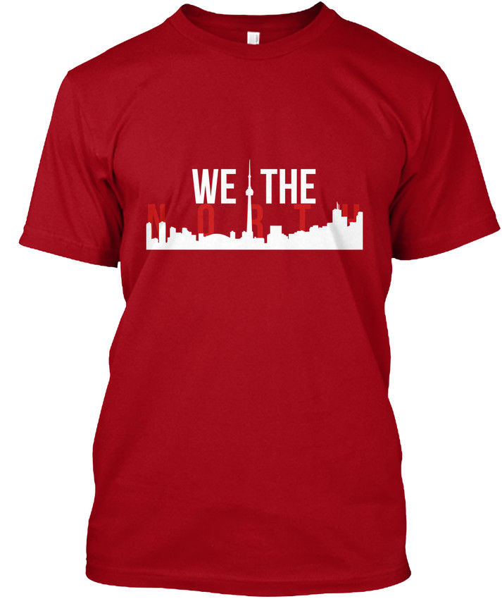 Raptors We The North Toronto Skyline popular Tagless Tee T-ShirtHigh Quality Custom Printed