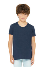 Youth Jersey Short Sleeve Tee / Heather Navy / Holiday