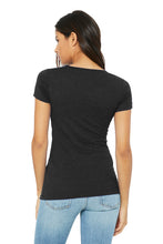 Women's Triblend Short Sleeve Tee / Heather Black /Holiday