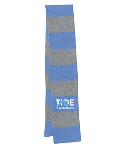 Striped Knit Scarf / Heather Royal / TIDE