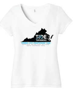 Women's Tri-Blend V-Neck - White