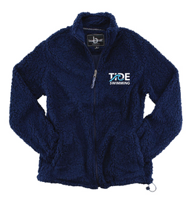 Full Zip Sherpa Jacket / Youth & Adult Sizes / Navy