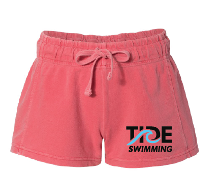 Women's French Terry Shorts / Watermelon / Tide Swimming