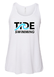 Youth Flowy RacerbackTank / White / Tide Swimming