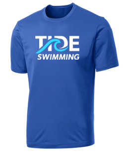 Performance Tee (Youth & Adult Sizes) / Royal / Tide Swimming