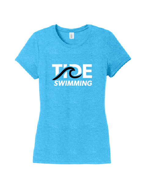 Womens Tri Crew Tee - Turquoise Frost