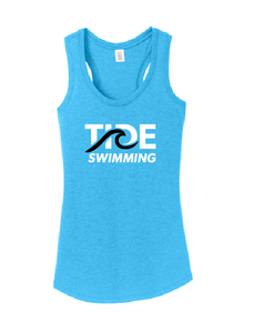 Womens Tri-blend Racerback Tank - Turquoise Frost
