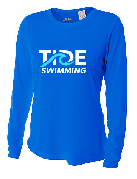 Ladies Long Sleeve Performance Shirt / Royal