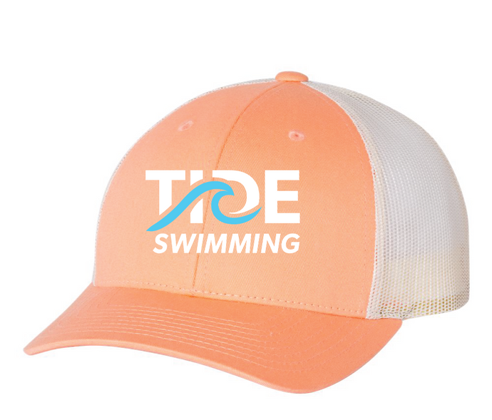 Mesh Hat / Peach / Tide Swimming