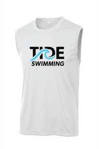 Men's Sleeveless Performance Shirt / White / Tide Swimming