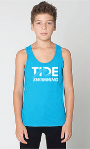 Youth Comfy Tank Top / Neon Heather Blue / Tide Swimming