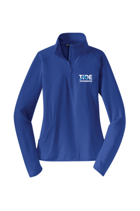 Women's 1/4 Zip Pullover / Royal / Tide Swimming
