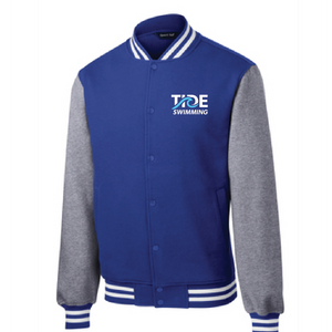 Fleece Letterman Jacket / True Royal & Heather