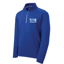 Sport-Wick Textured 1/4-Zip Pullover/ Royal