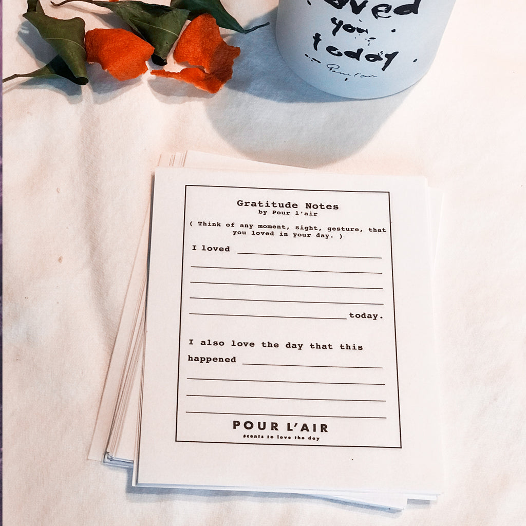 Gratitude notes for Valentine's Day. A Valentine's Day DIY kit free download and make your own notes.