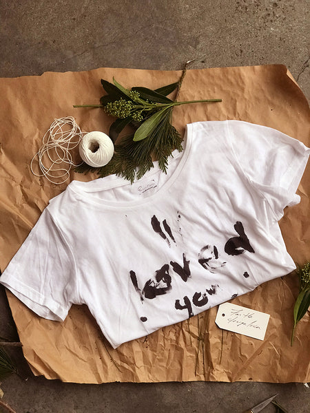 If they love streetsyle tshirts and statement tees, the I loved you today tshirt is for them. Boyfriend white tshirt.