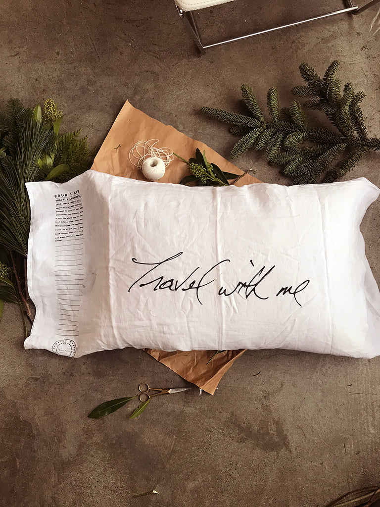 Travel pillowcase for the travel lover. Take it on trips as who knows if that airbnb is clean. It has room to journal your stories. The travel pillowcase is a keepsake to pass down to family, to use as home decor.