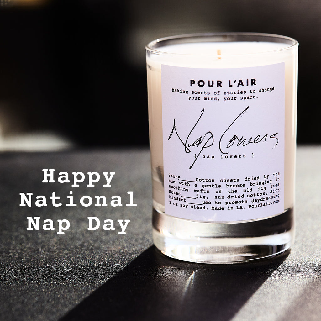 #nationalnapday The Nap candle made to celebrate Napping at work day