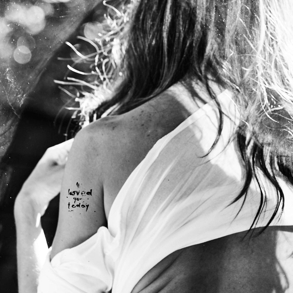 Tattoo yourself for Valentine's Day and play up your love with the Pour l'air free temporary tattoo.