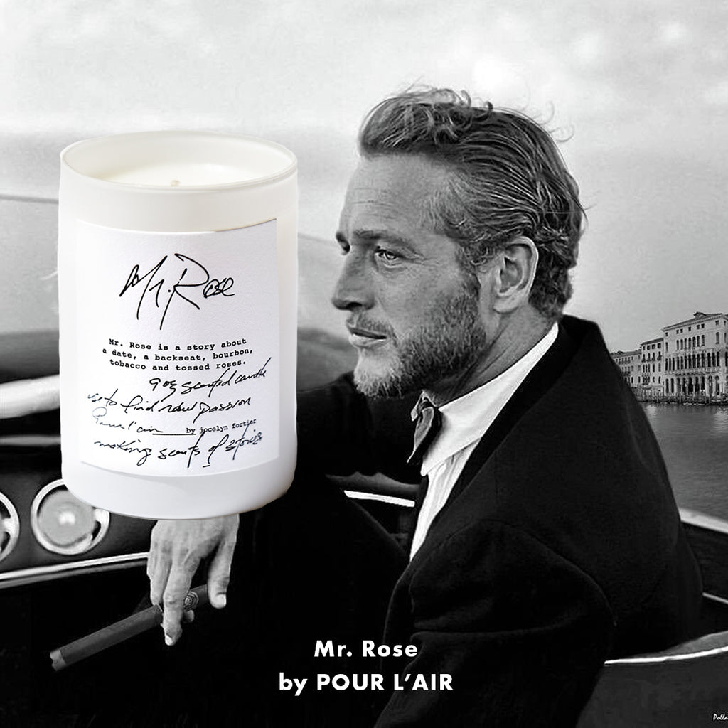 Mr. Rose candle is perfect for Valentine's Day as it feels like being on a date with Paul Newman.