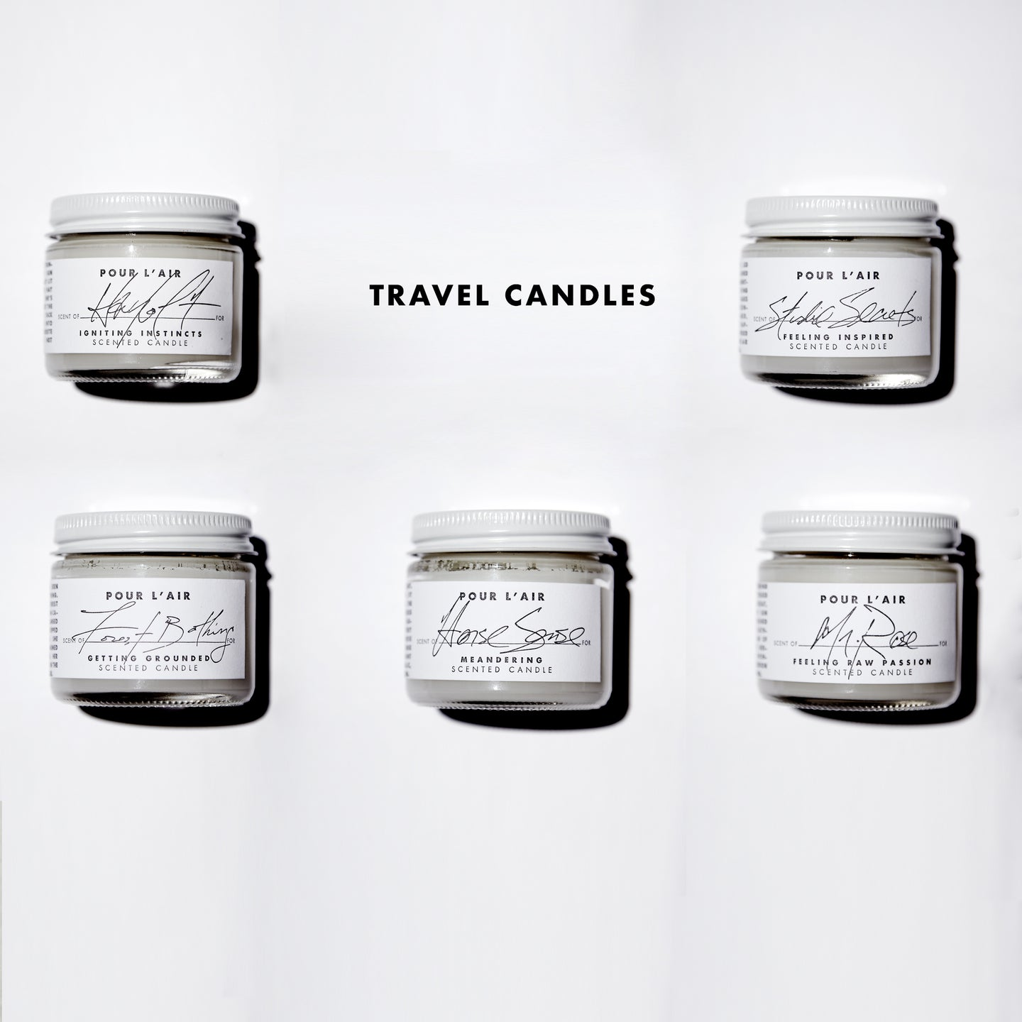 TRAVEL CANDLE SET