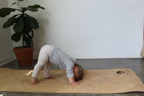 baby yoga pose cork yoga mat