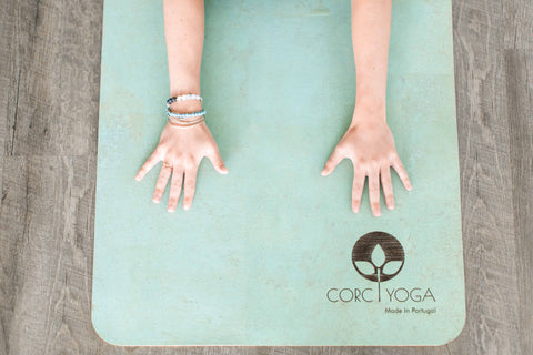 Cork Yoga Mat with Hands