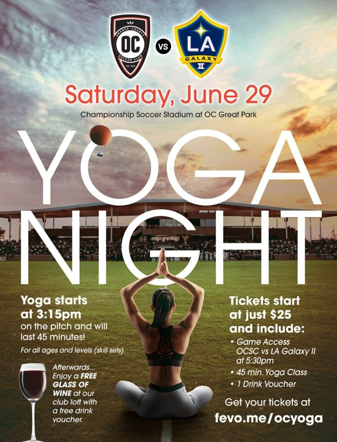 Yoga Night Event Orange County California