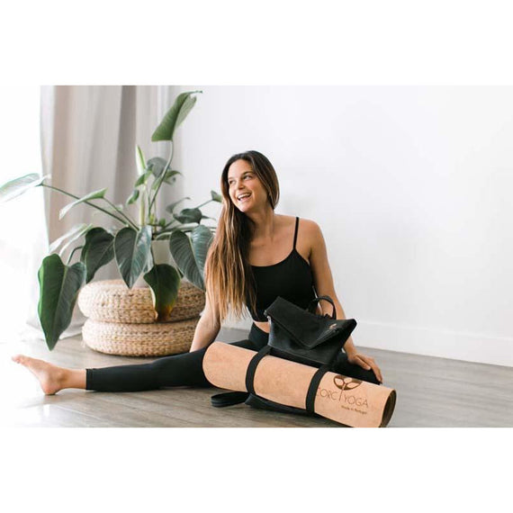 Transfer : Coal : Cork Yoga Backpack