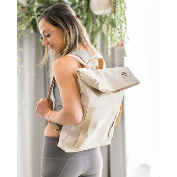 Transfer : Sand : Cork Yoga Backpack