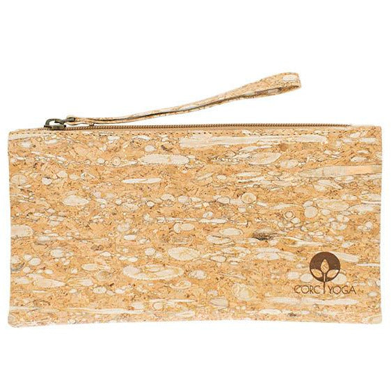 Cork Clutch Pebbled Gold Fleck