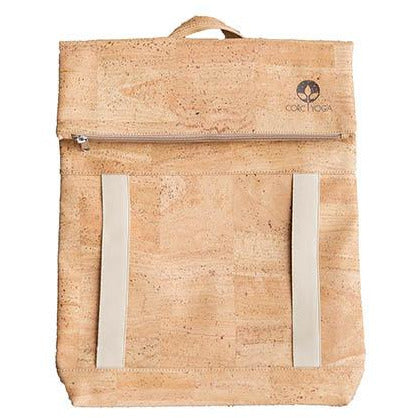 Natural Cork Yoga Backpack Front View
