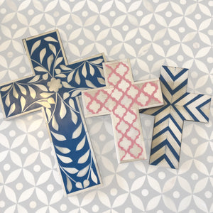 Bone Inlay Crosses