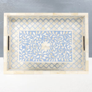 Pale Blue Grey Leaf Pattern Box