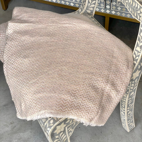 Cashmere Throw - Gold Stripe