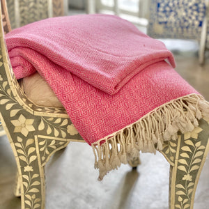 Cashmere Throw - Pink Diamond