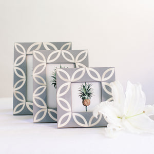 Petal Pattern Photo Frame - Grey
